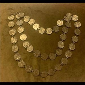 Vintage Brazil 50 Centavos Necklace